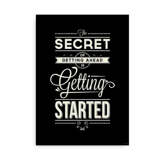 The secret of getting ahead creme på sort