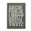 Alfabetplakat med engelsk alfabet og med teksten