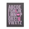 ABC plakat med engelsk alfabet og med