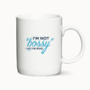 "Krus med teksten ""I am not bossy - I am the boss"""