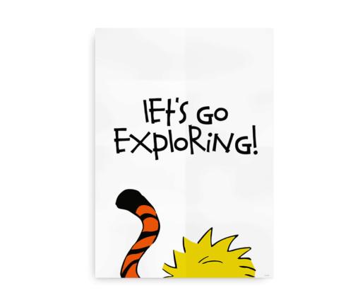 Let's Go Exploring - Steen og Stoffer inspireret plakat