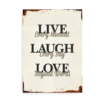 Live every moment, Laugh every day, Love Beyond words - plakat med citat