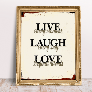 Live Laugh Love retro plakat