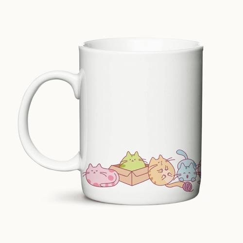 Coffee Cats - krus med katte i dejlige farver