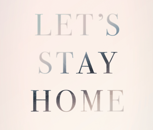 Plakat close up silver look - Let's Stay Home tekst