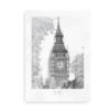 Plakat med Big Ben, London