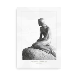 Fotokunst plakat med den Lille Havfrue