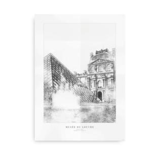 Plakat med Musée du Louvre fra Paris