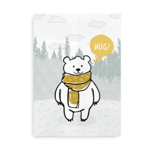 Bear Hug - plakat med bjørn
