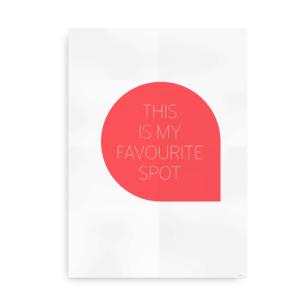 Favourite Spot - koral plakat