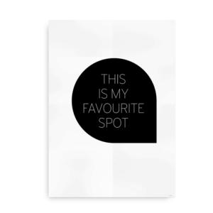 Favourite Spot - sort plakat
