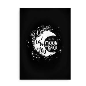 Moon Love - Plakat sort / hvid