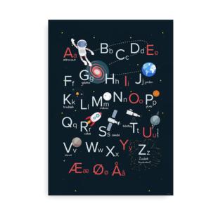 Rumplakat med alfabet - store og små bogstaver