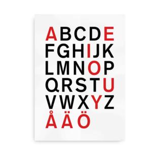 Svensk alfabetplakat