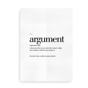 Argument definition quote poster