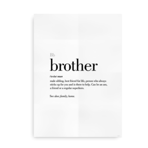 Brother definition quote poster