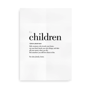 Children definition quote poster