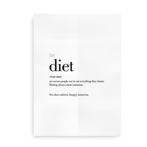 Diet definition quote poster