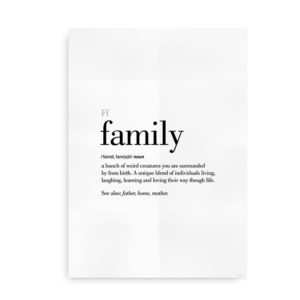 Family definition quote poster
