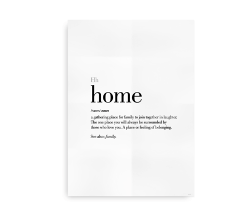 Home definition quote poster