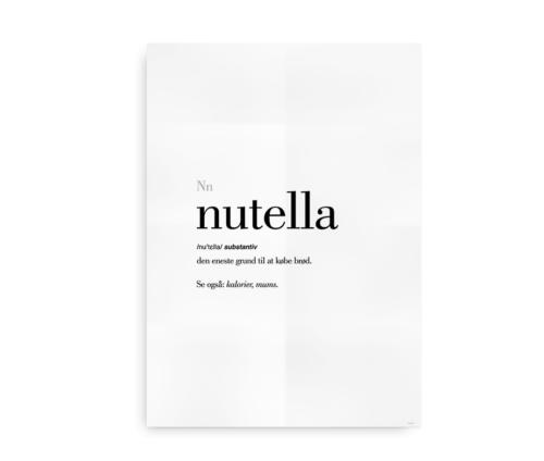 Nutella dansk definition betydning citat plakat