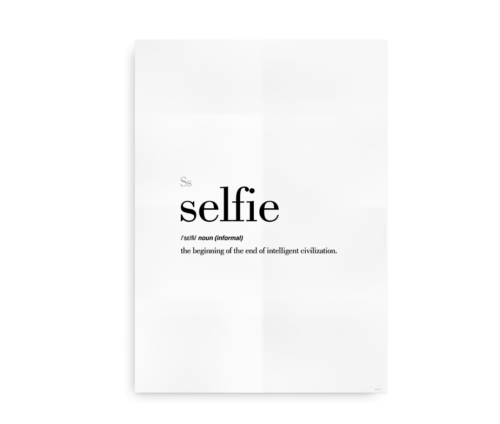 Selfie definition quote poster