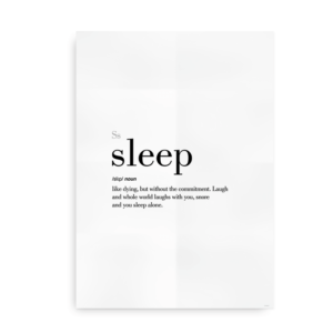 Sleep definition quote poster