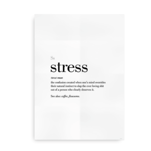 Stress definition quote poster
