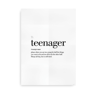 Teenager definition quote poster