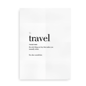 Travel definition quote poster