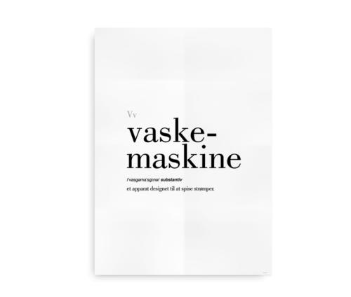 Vaskemaskine dansk definition betydning citat plakat