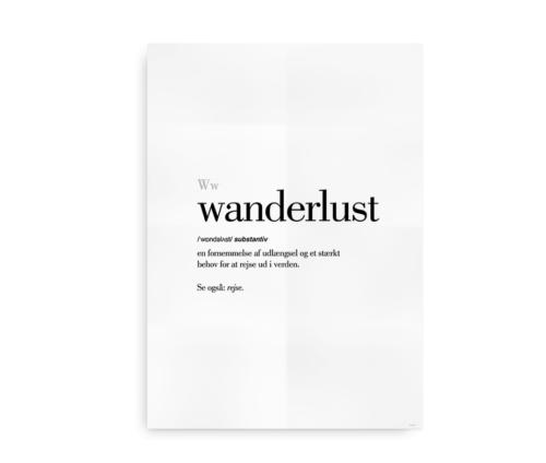 Wanderlust dansk definition betydning citat plakat