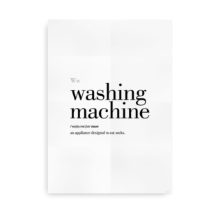 Washing Machine definition quote poster