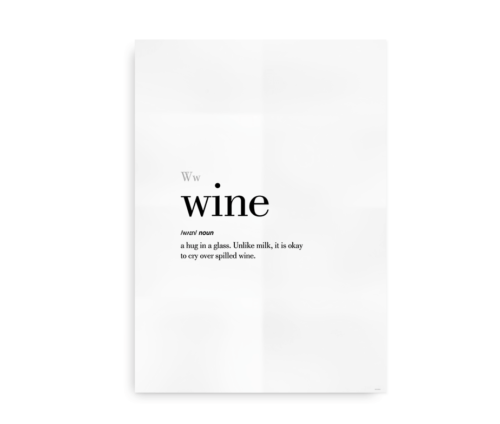 Wine definition quote poster