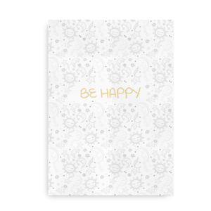 Be Happy - plakat i nedtonede farver