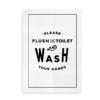Flush and Wash - plakat til badeværelset