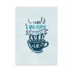 I Like Big Cups - plakat i blå