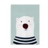 Isbjørn - Plakat med isbjørn til drenge og piger_blå