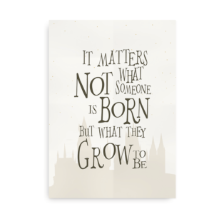 What they Grow to be - Harry Potter Plakat med citat