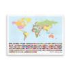 Verdens lande og flag - plakat