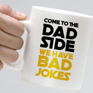 Dad Side and Dad Jokes - sjovt krus fars dag