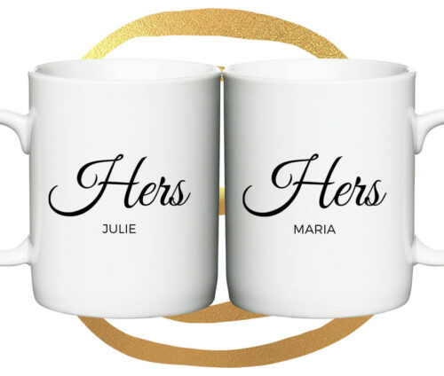 Hers and Hers - krus med navne