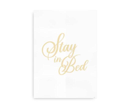 Stay in Bed - gylden gul