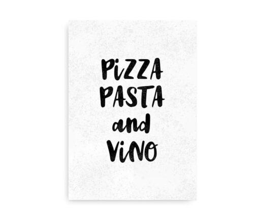 Pasta Pizza and Vino plakat