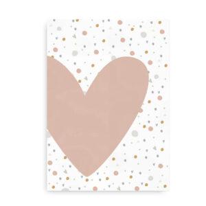 Plakat med konfetti og hjerte