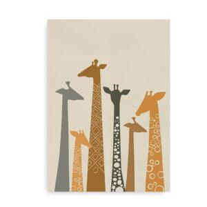 Plakat med giraffer - savanne