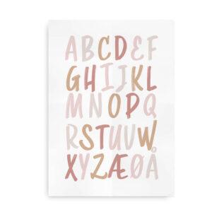 ABC Ink - alfabetplakat neutrale farver
