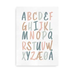 ABC Ink - alfabetplakat pastel