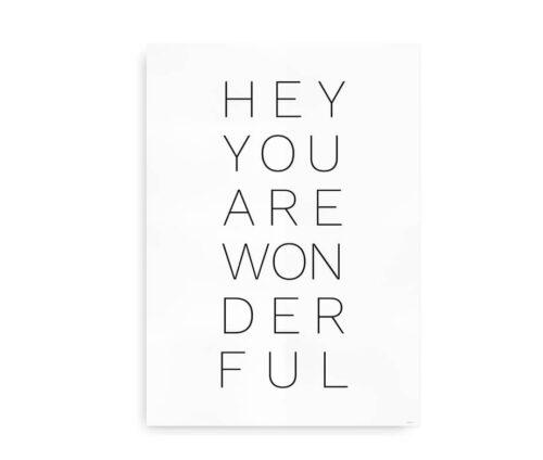Hey You Are Wonderful - plakat