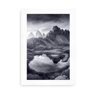 Mountain Lake Reflections - poster